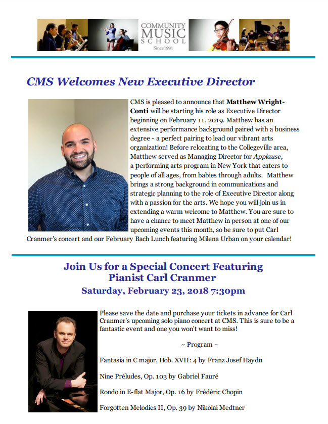 February Newsletter CSM