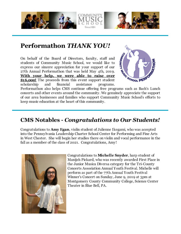 community music school newsletter may 2019
