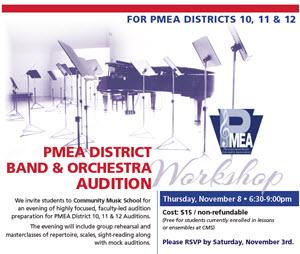 PMEA District Audition workshop