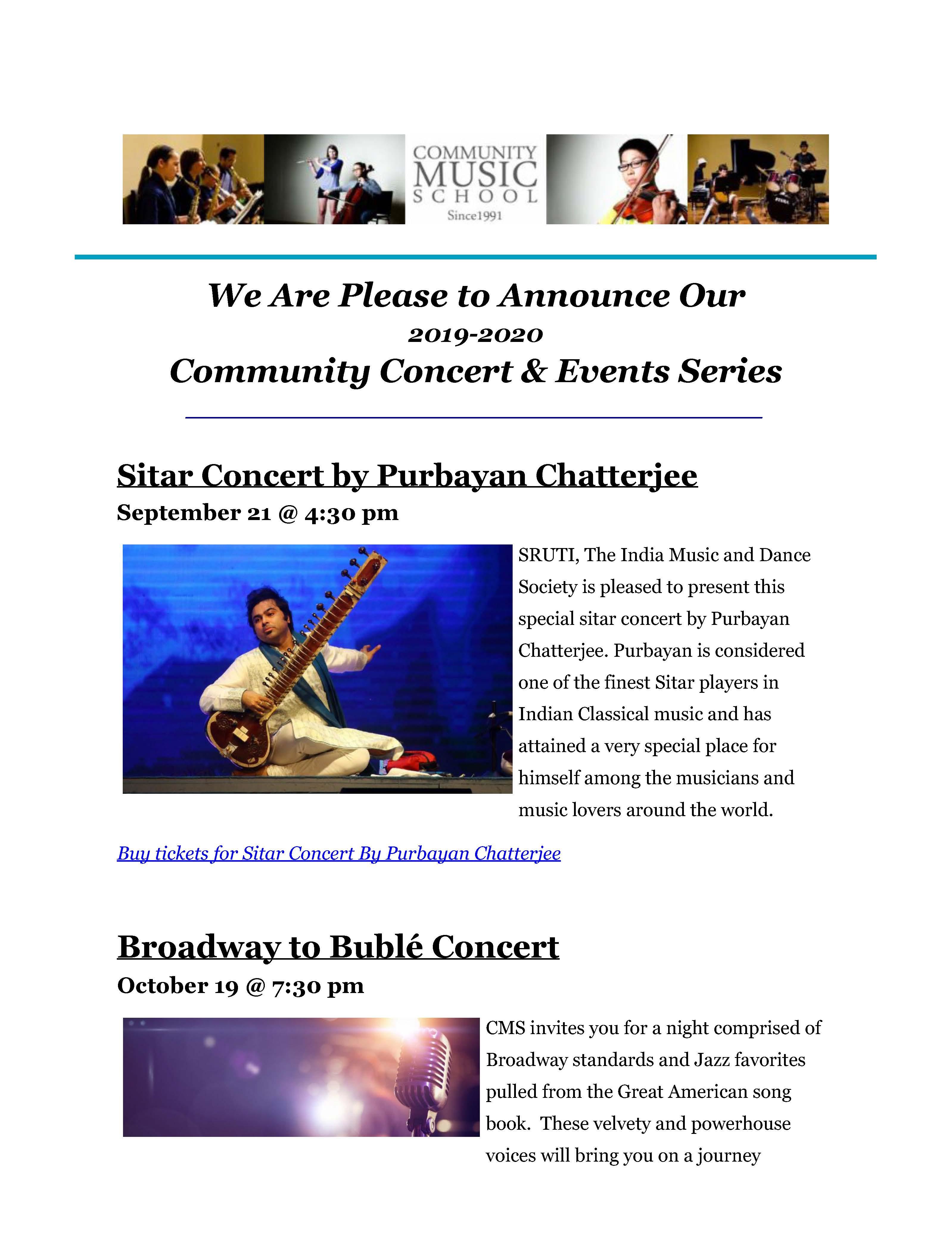 September Newsletter | Community Music School