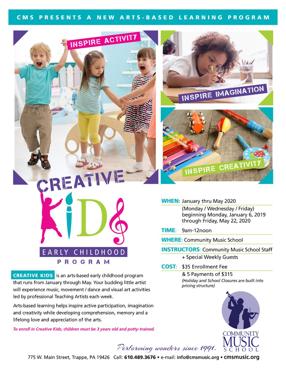 creative Kids Early Childhood program